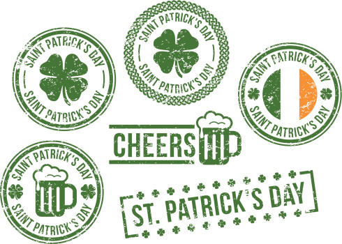 St. Patrick's Day - rubber stamps
