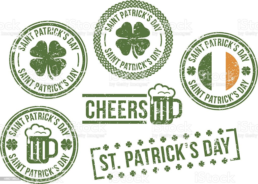 St. Patrick's Day - rubber stamps vector art illustration