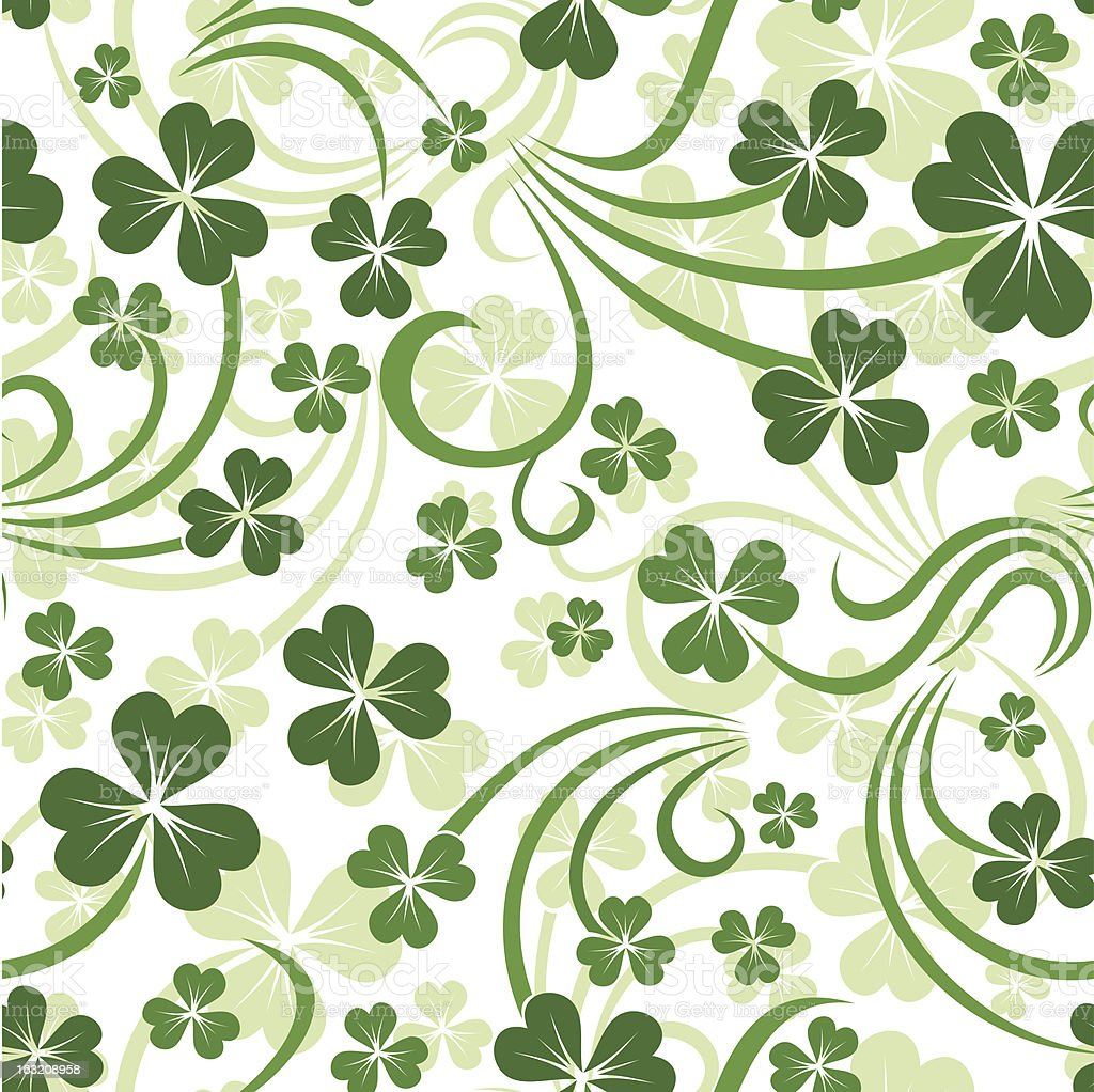 St. Patrick's day seamless background with shamrock. Vector EPS-10. royalty-free stock vector art