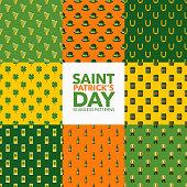 St. Patrick's Day Seamless Pattern Set