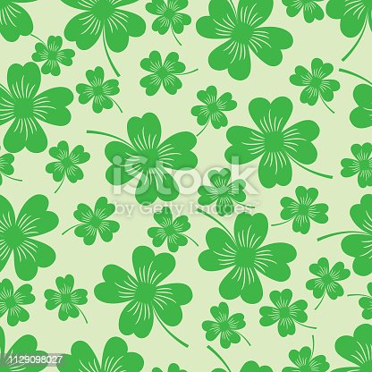 Vector St. Patrick's day seamless pattern with clover .