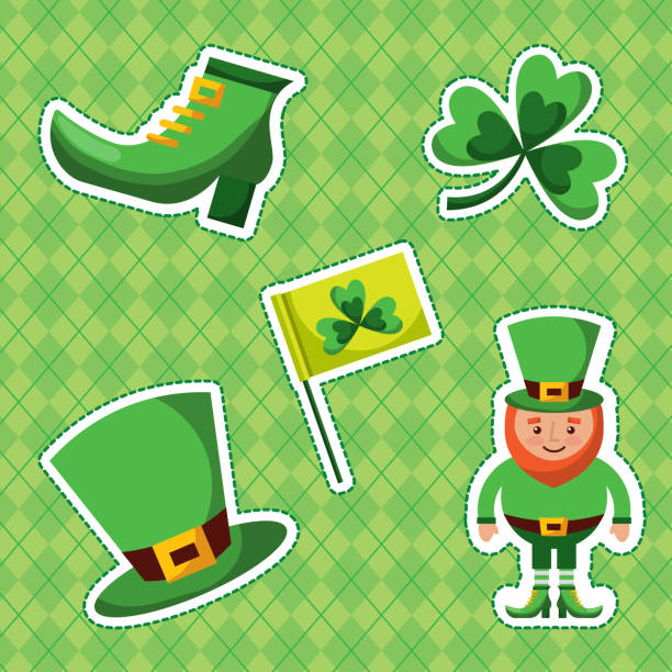 St Patrick S Day Elements Illustrations Royalty Free Vector Graphics Clip Art Istock