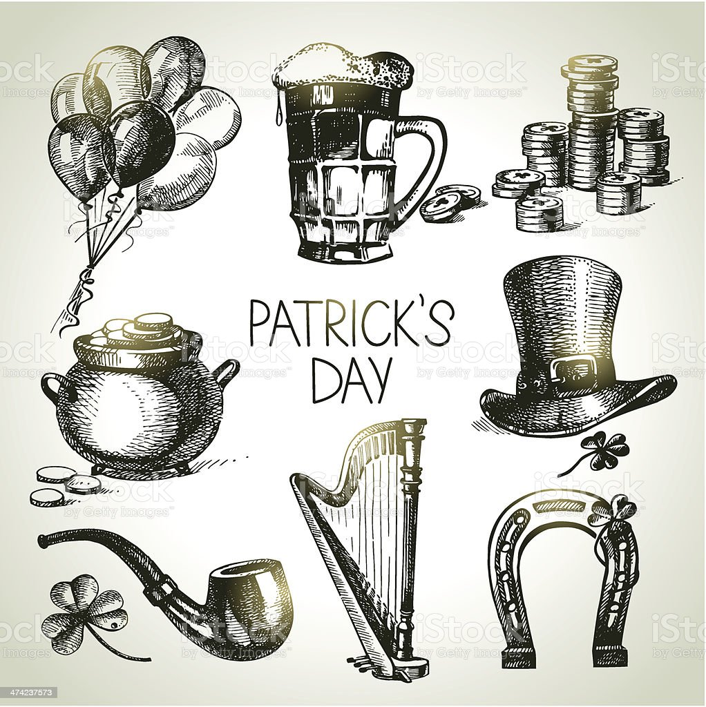 St. Patrick's Day set royalty-free stock vector art