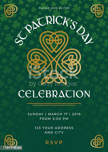 St. Patrick's Day Special Party Invitation Template - Illustration
