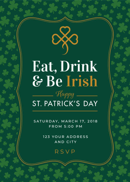 St. Patrick's Day Special Party Invitation Template vector art illustration