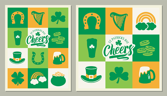 St Patrick's Day square greeting cards