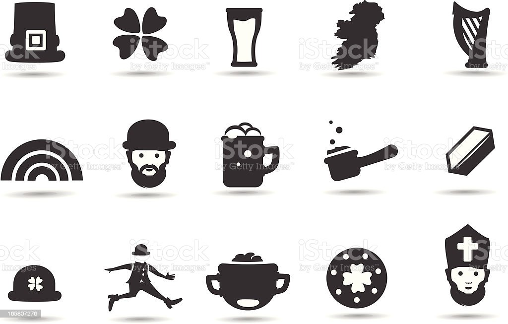 St. Patrick's Day Symbols royalty-free stock vector art