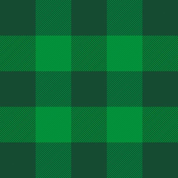 St. Patricks Tag Tartan plaid. Schottischer Käfig – Vektorgrafik