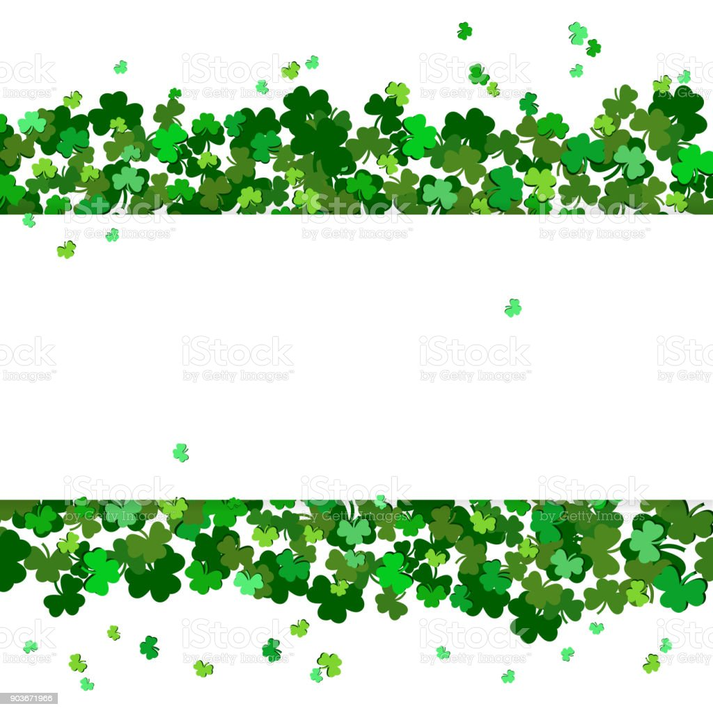St patricks day vector background with shamrock lucky spring symbol st patricks day vector background with shamrock lucky spring symbol clover in green shades biocorpaavc Gallery