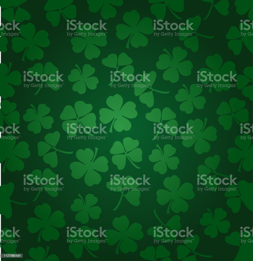 St. Patrick's day vector background with shamrock vector art illustration