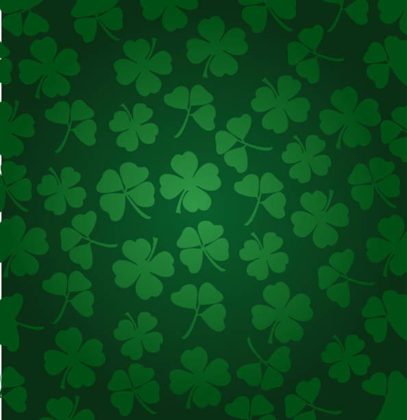 st. patrick's day vector background with shamrock - st patricks day stock illustrations