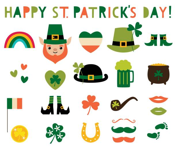 St. Patrick's Day vector design elements set St. Patrick's Day vector design elements set st patricks day stock illustrations