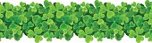 St. Patrick's day vector horizontal seamless background with shamrock.