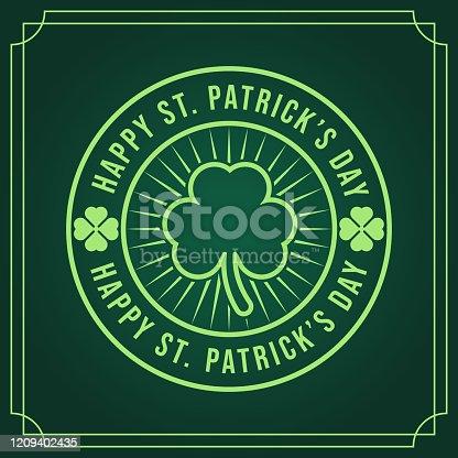 istock St. Patrick's Day Vector Illustration. Happy St. Patrick's Day vector flat design template 1209402435
