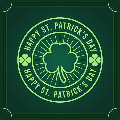 St. Patrick's Day Vector Illustration. Happy St. Patrick's Day vector flat design template