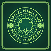 istock St. Patrick's Day Vector Illustration. Happy St. Patrick's Day vector flat design template 1209402435