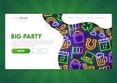 St. Patrick's Day web banner. Patrick's Day home page. Web banner template. Vector illustration