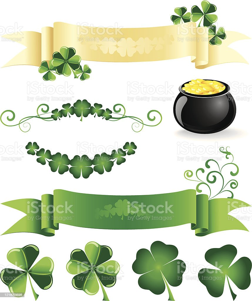 St. Patrick's design elements vector art illustration