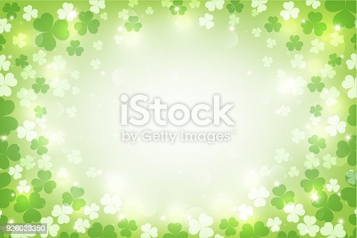 istock St. Patrick's glowing abstract background. vector illustration. 926023350