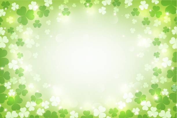 St. Patrick's glowing abstract background. vector illustration. vector art illustration