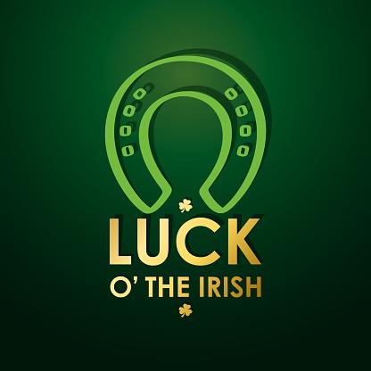 St Patrick's Good Luck Horseshoe