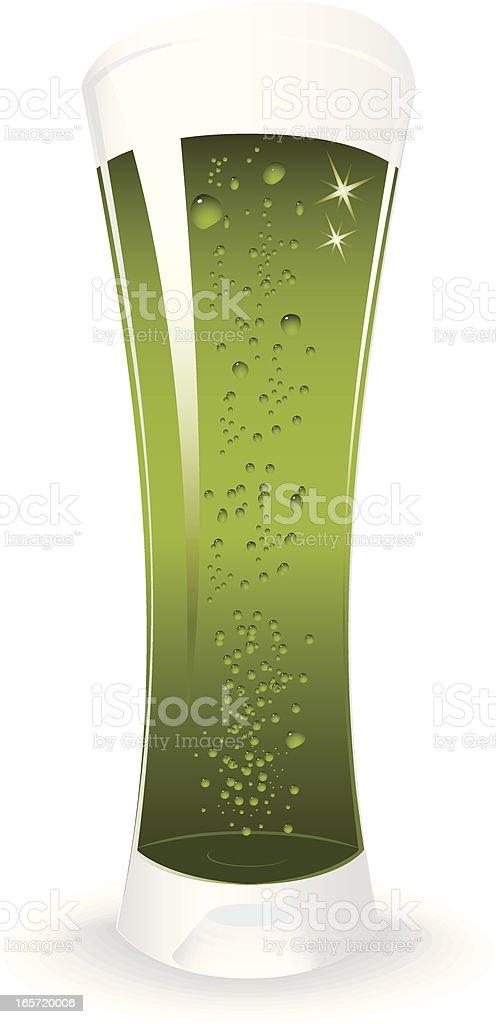 St. Patrick's green beer banner vector art illustration