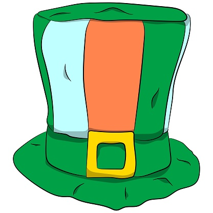 St. Patrick's hat. Green hat.