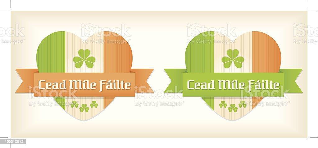 St Patrick's irish hearts vector art illustration