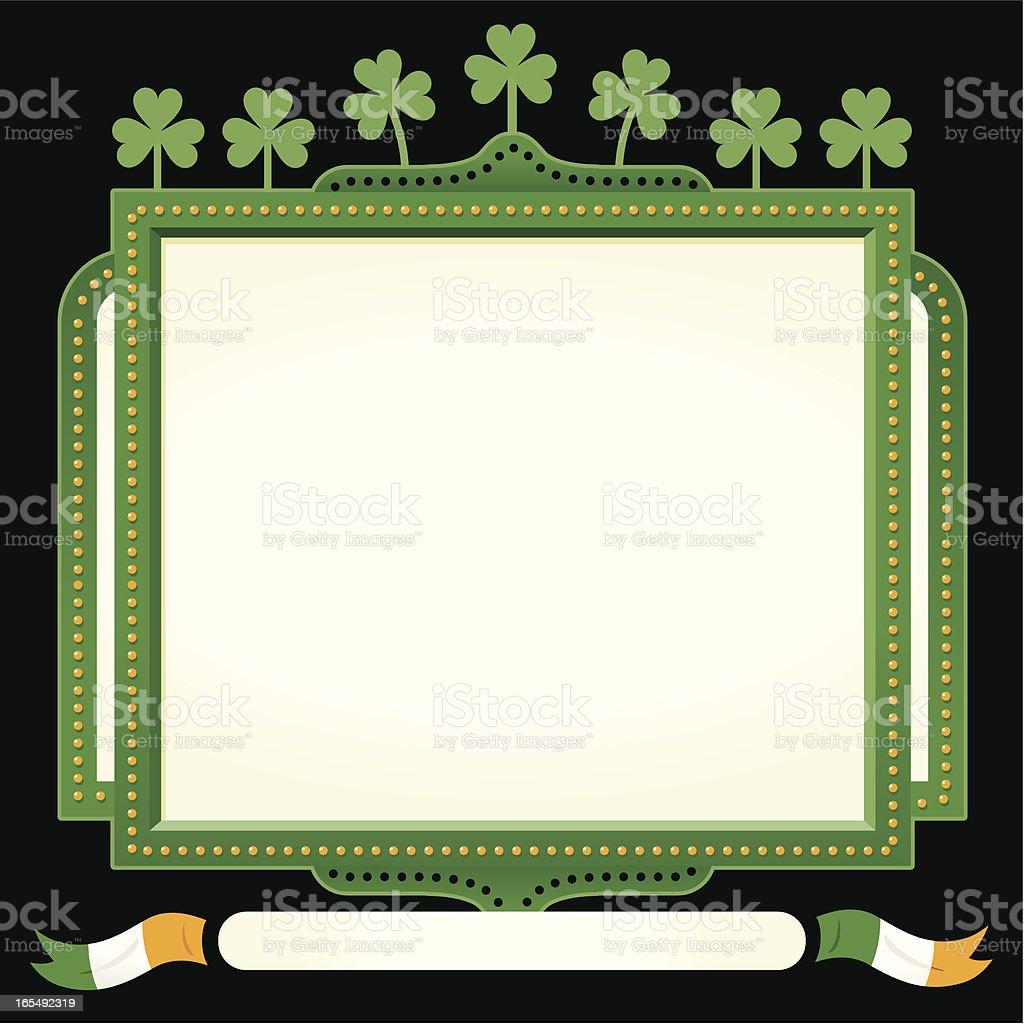 St Patrick's Irish sign royalty-free stock vector art