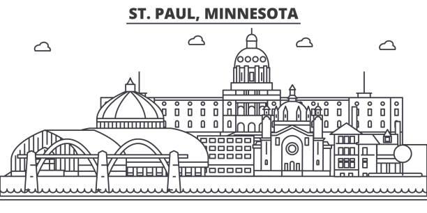 Best Minneapolis Skyline Illustrations, Royalty-Free ...