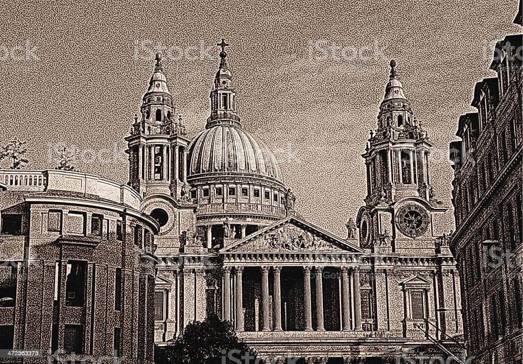 St. Paul's Cathedral royalty-free stock vector art