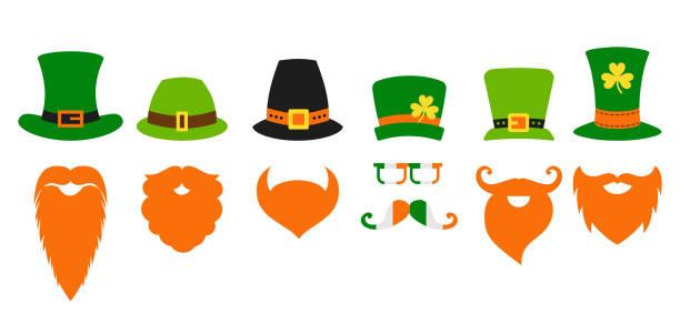 St. Saint Patricks Day Kobold Hut Bart – Vektorgrafik