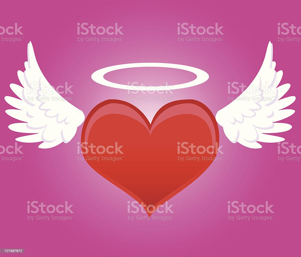 St. Valentine's Angel royalty-free stock vector art