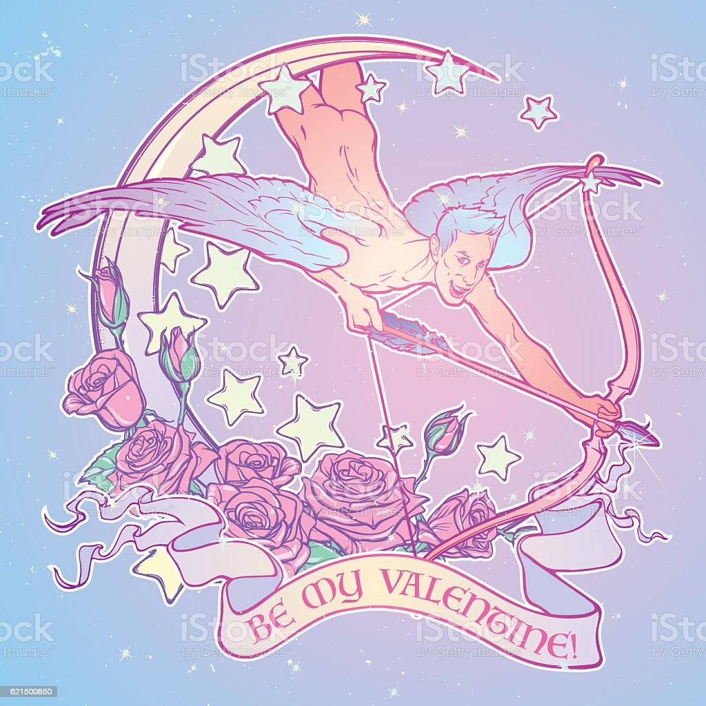 St. Valentine's cupid flying st valentines cupid flying - immagini vettoriali stock e altre immagini di adulto royalty-free