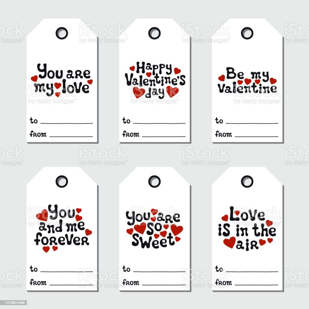 image relating to Holiday Tags Printable referred to as St Valentines Working day Reward Tags Printable Tags Selection Appreciate