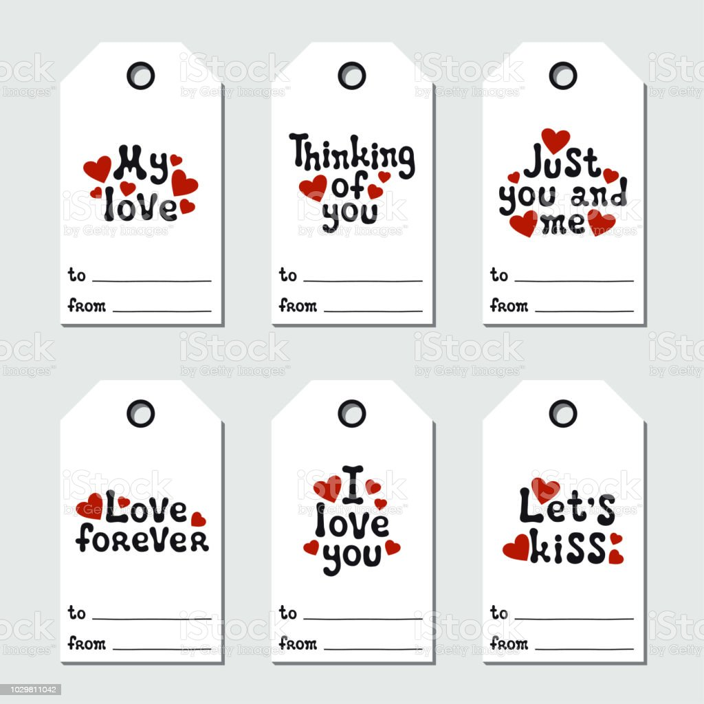 picture regarding Printable Number Tags named St Valentines Working day Reward Tags Printable Tags Choice Appreciate