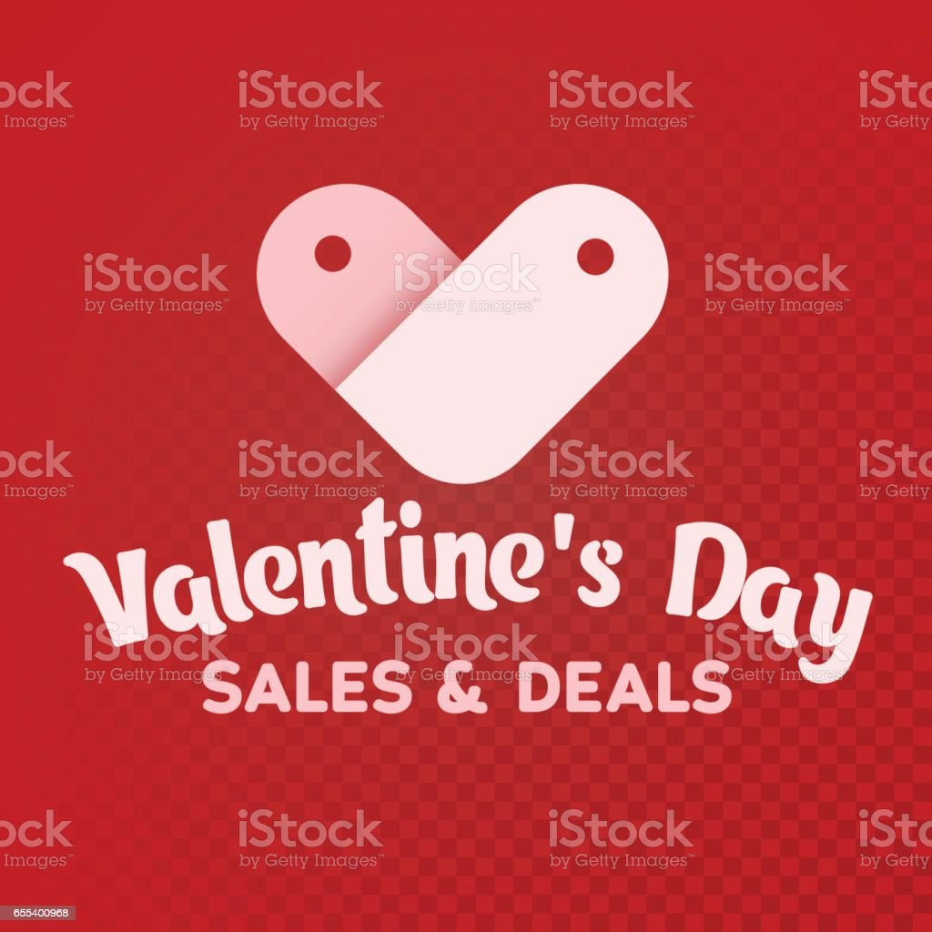 st valentines day sale and deals white label sale shaped heart on a - Valentine Deals