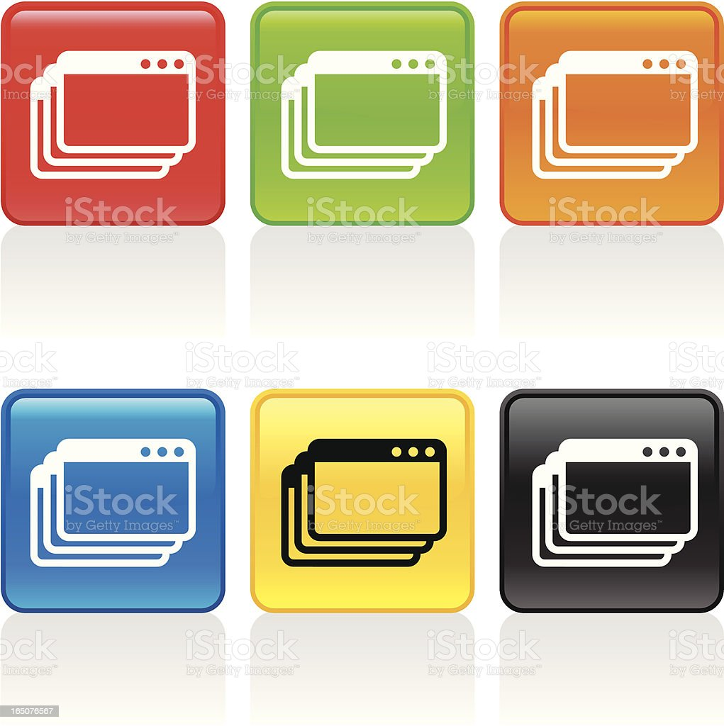 Stack Icon royalty-free stock vector art