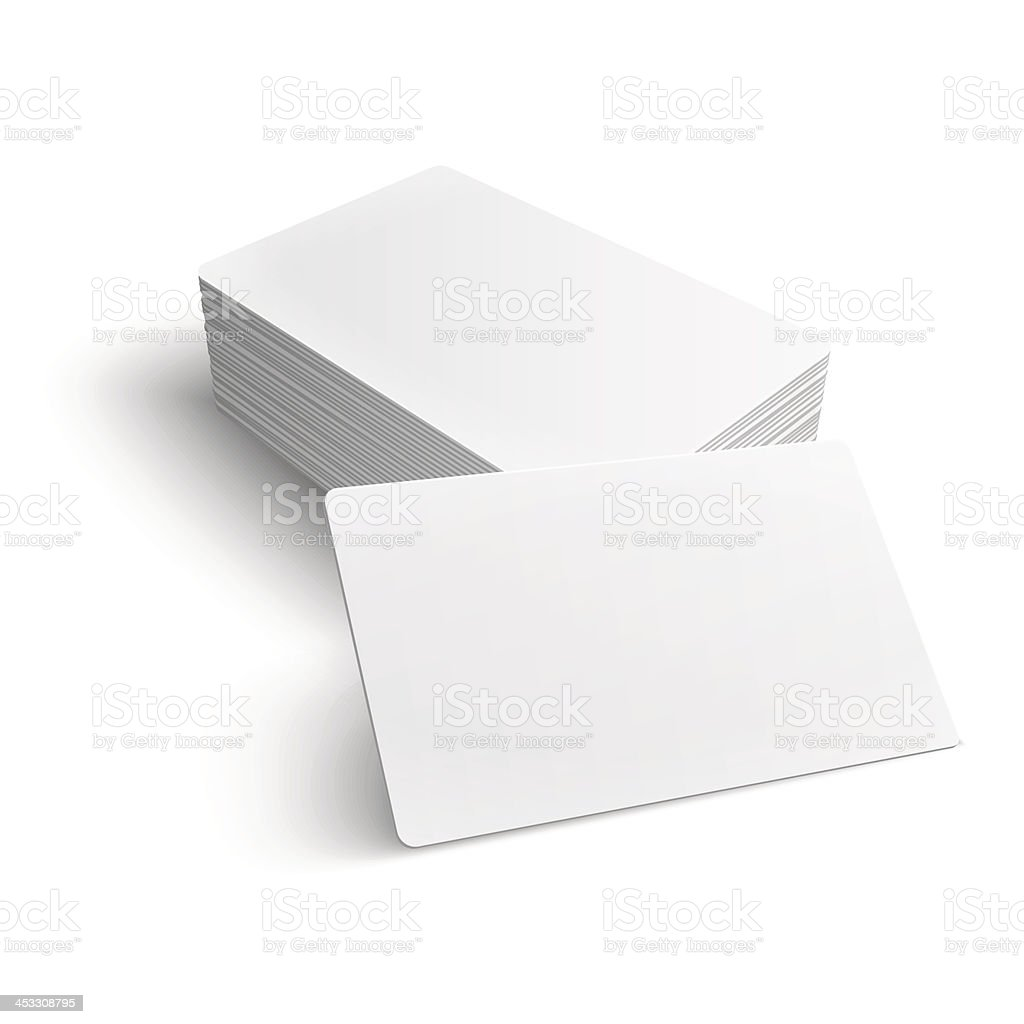 Stack of blank business card. vector art illustration
