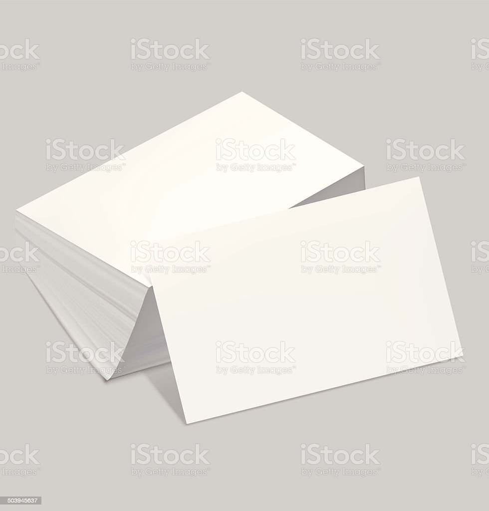 stack of blank business card stock illustration  download
