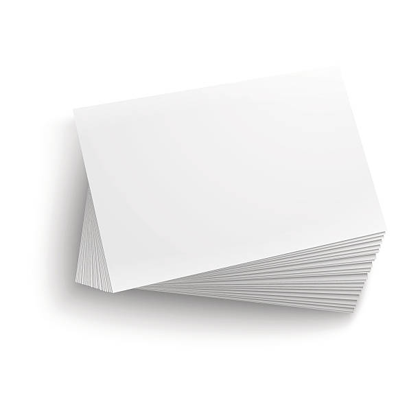 Royalty free lots of business cards clip art vector images stack of blank business cards on white background vector art illustration colourmoves Images