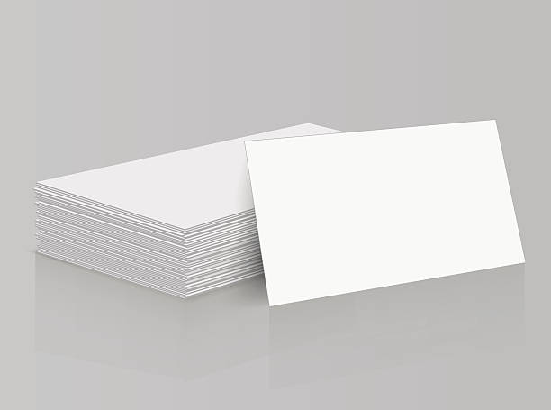 Royalty free stack of blank cards clip art vector images a stack of blank business cards vector art illustration reheart Images