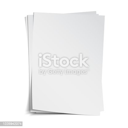 Vector illustration of blank sheets on a plain backgrounds