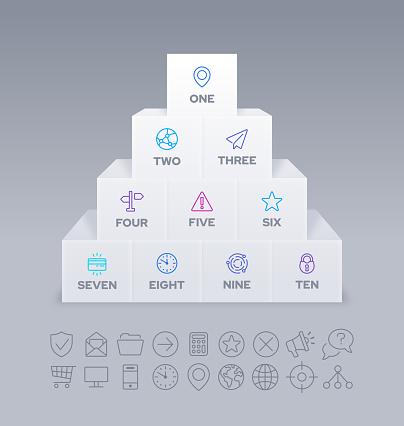 Stack of Blocks Infographic Design
