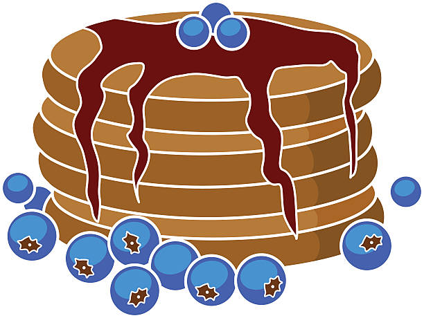 Royalty Free Blueberry Pancakes Clip Art, Vector Images ...
