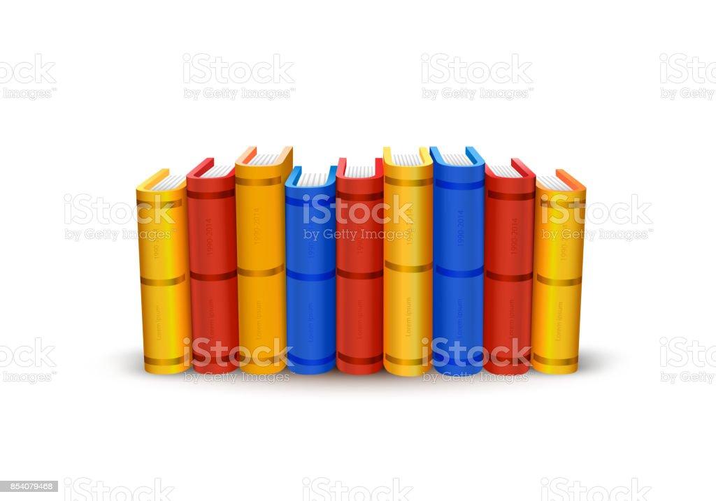 Stack of books art color object. vector art illustration