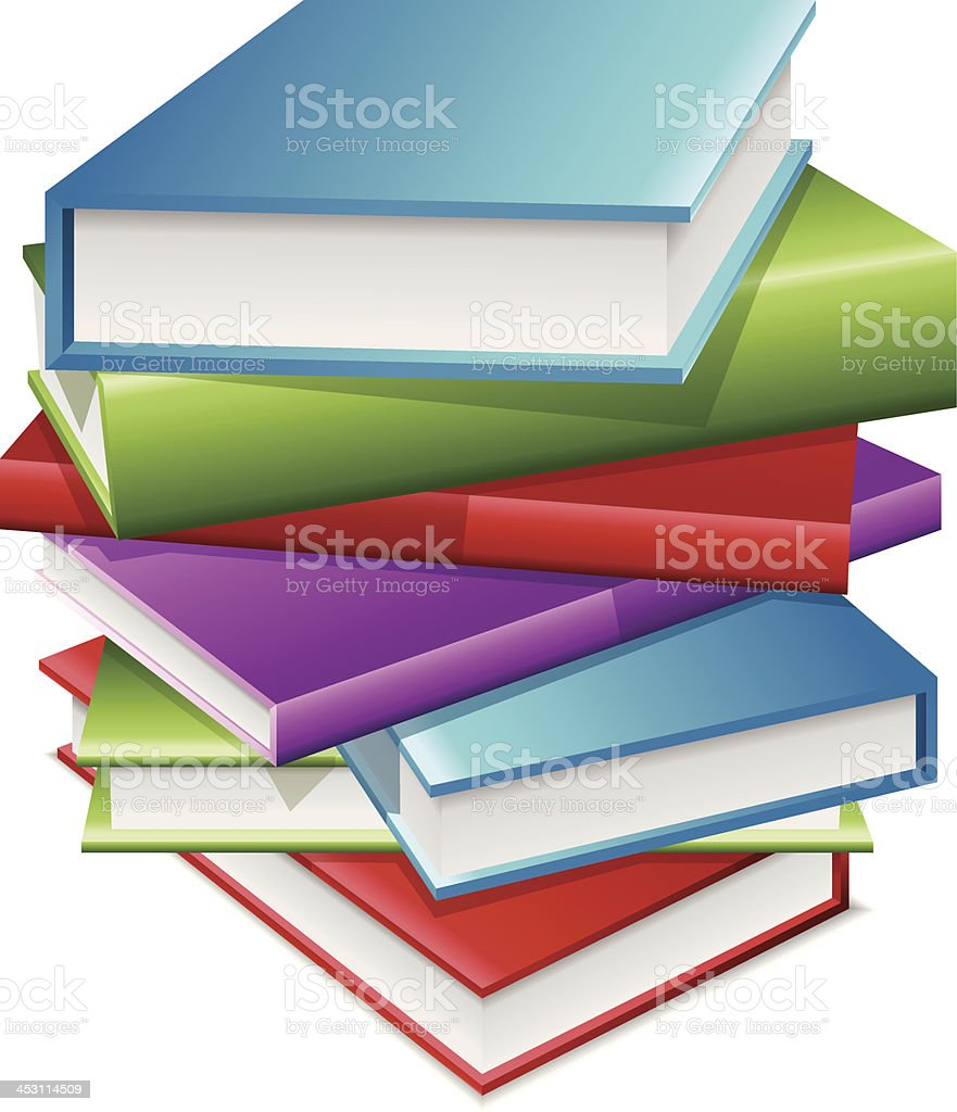 Stack Of Books royalty-free stack of books stock vector art & more images of back to school
