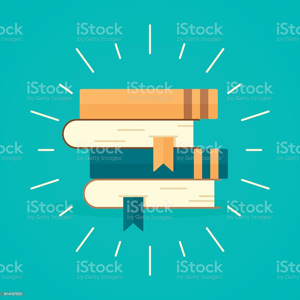 Stack of Books vector art illustration