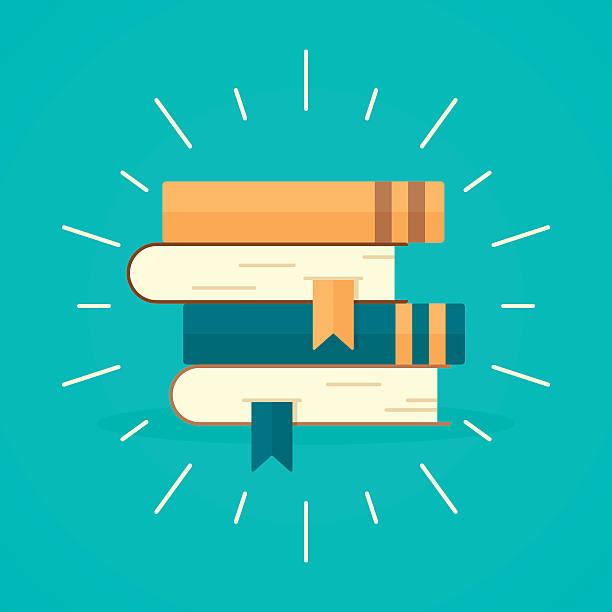 Stapel Bücher  – Vektorgrafik