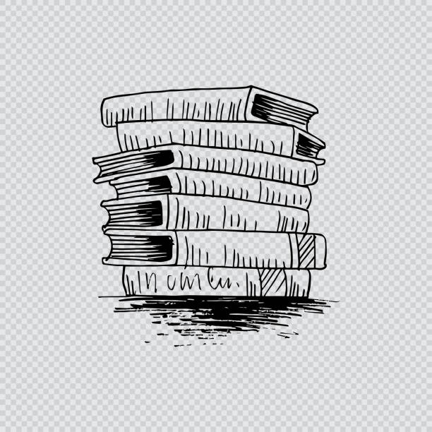 stack of books - book clipart stock illustrations